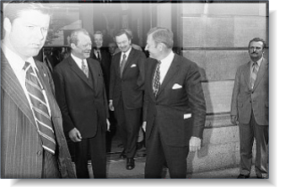 Willy Brant and David Rockefeller, 18 June 1971