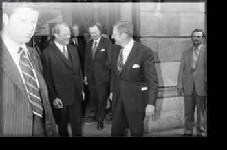 Willy Brant and David Rockefeller, 18 June 1971