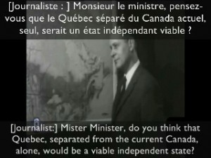 René Lévesque's Communist 'Compromise' -- Fundamental Restructuring of all of Canada (10 November 1964)