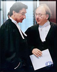 Guy Bertrand and André Joli-Coeur in the 1996-1998 Quebec Secession Scam at the unconstitutional non-judicial, section 53 advisory board of the post-1982 coup Supreme Court of Canada