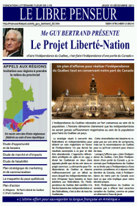 "Guy Bertrand's ""Liberté-Nation"" Project for a Regionalized Federal Quebec"