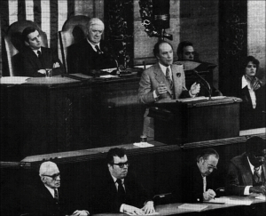 "22 February 1977- Pierre Elliott Trudeau's ""New World Order"" address to Congress."