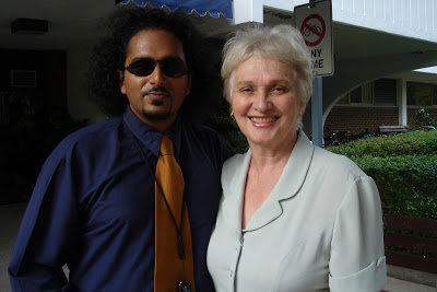 MPVij (aka Black Krishna) and Connie Fogal  (wedding pic)