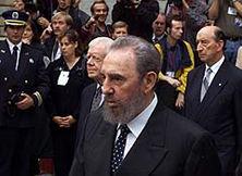 Fidel Castro at Trudeau's funeral