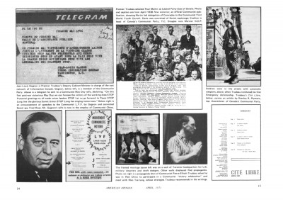 The Telegram, top-left in the double-page spread in the center-fold of Stang's Canada offprint of April 1971.