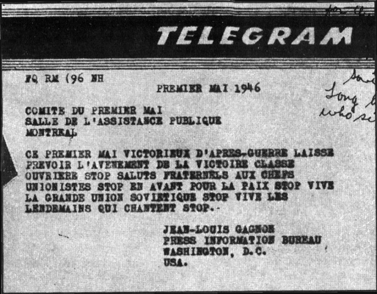 The Telegram published by Stang in American Opinion, also in April 1971