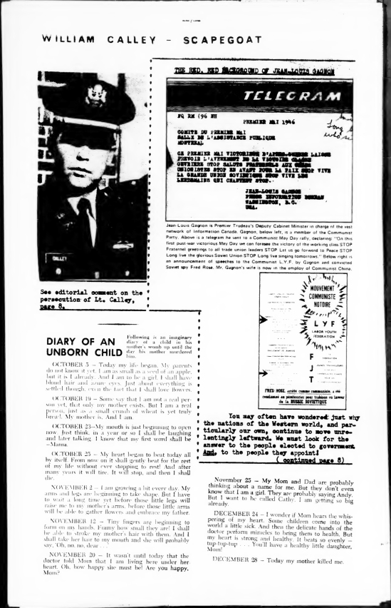 The Telegram published by Straight Talk! in April 1971